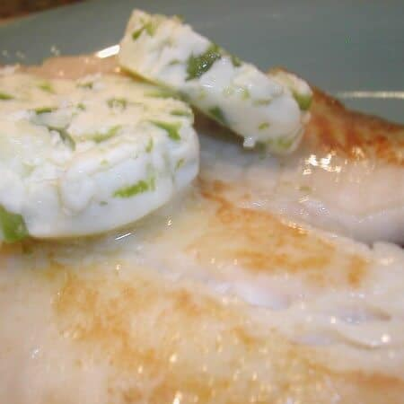 seared tilapia with chili-lime butter