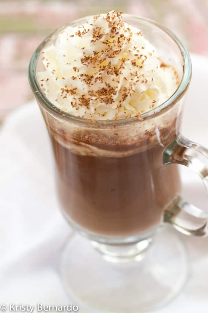 2-ingredient Nutella hot chocolate