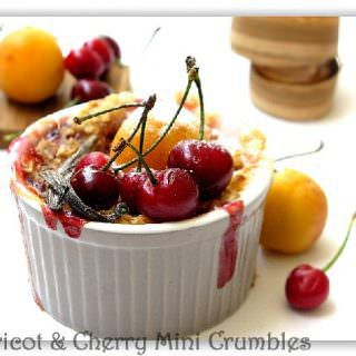 apricot & cherry mini crumbles