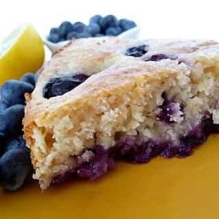 Blueberries on the Bottom Cake