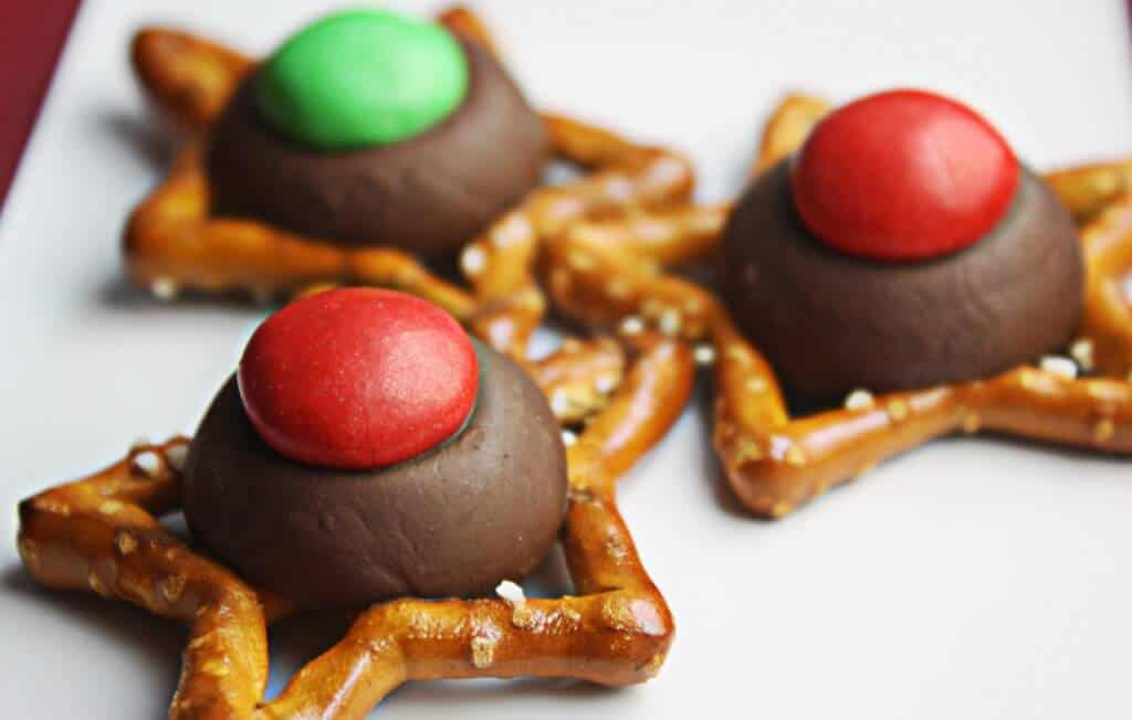 Easy Christmas cookies on a white plate