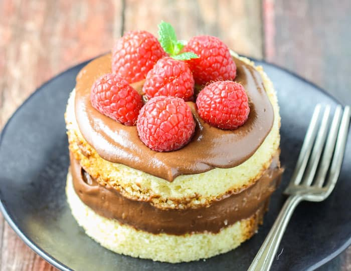 This stunning Nutella Mousse Cake has just four ingredients and couldn't be more simple!