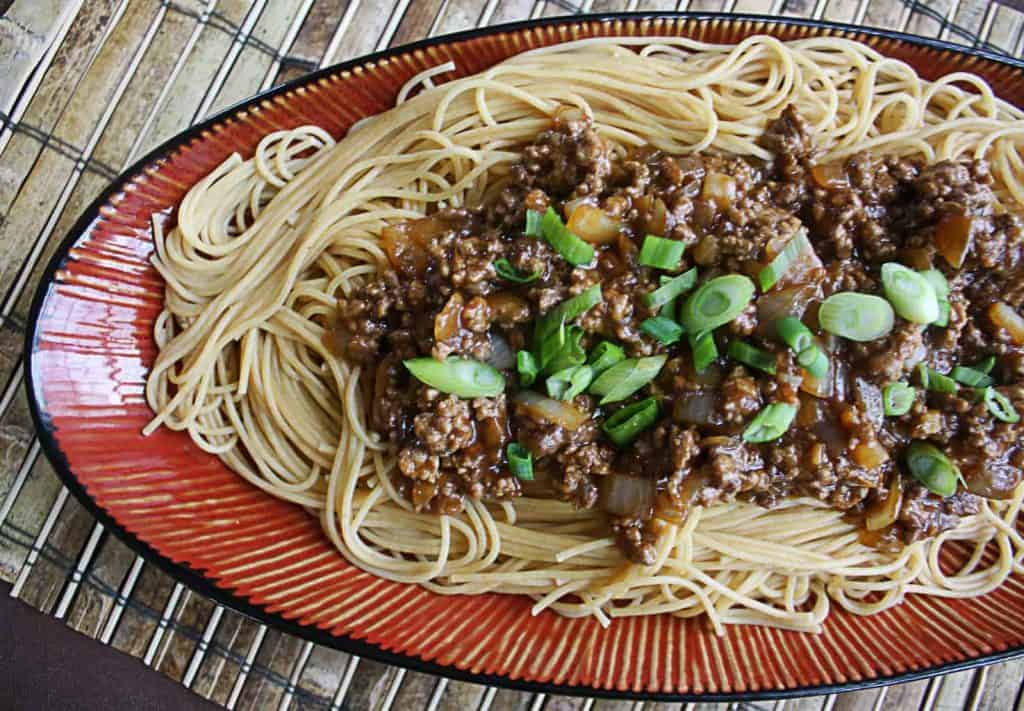 Szechuan Beef Pasta Using Ground Beef | The Wicked Noodle