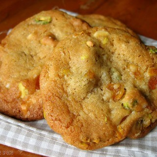 White Chocolate Dried Apricot Pistachio Cookies