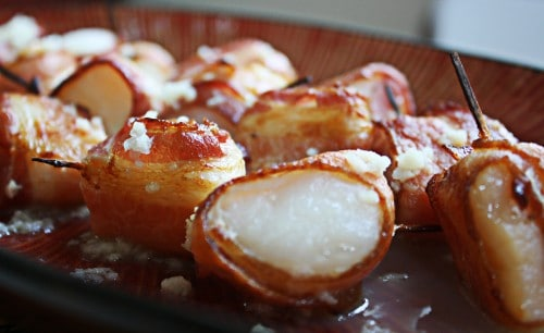 bacon wrapped scallops with garlic butter recipe