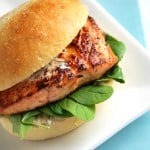 recipe agave salmon burgers with chipotle mayonnaise