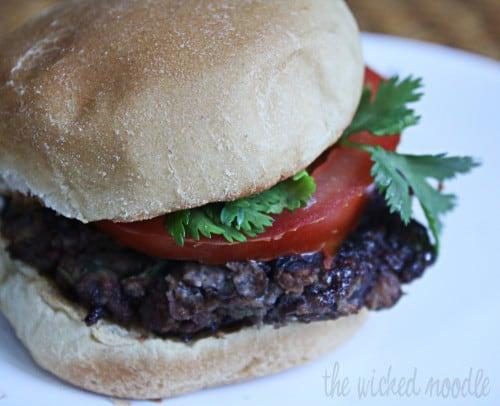 pomegranate chipotle black bean burger recipe