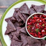 Fresh Cherry-Chipotle Salsa - it is SO GOOD and is perfect with chips, over fish, on crusty garlic bread!