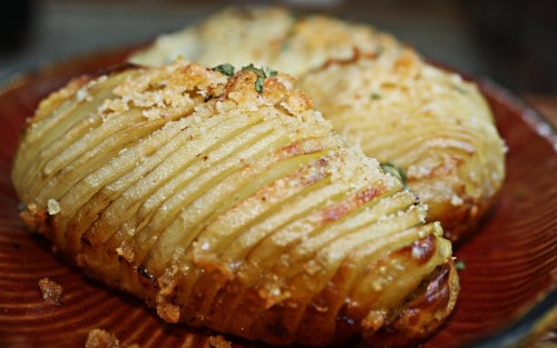 baked hasselback potatoes recipe