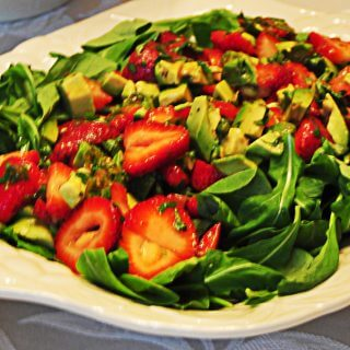 Arugula Salad with Avocado and Strawberries