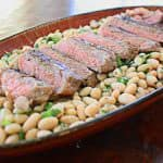 steak and white bean salad