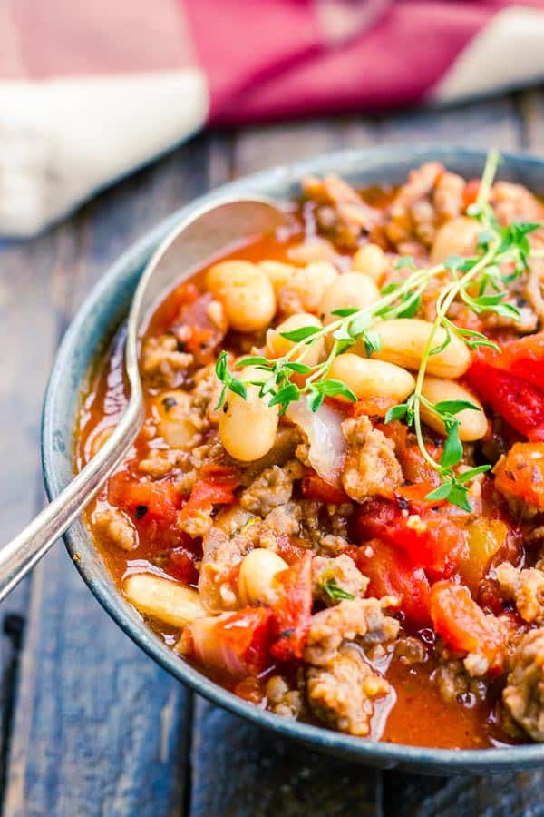 This easy Italian Sausage Stew has just 6 ingredients but loads of flavor!