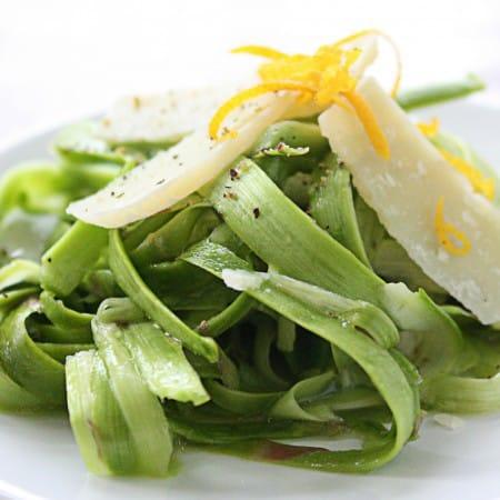 Shaved Asparagus Salad with Meyer Lemon & Grana Padano