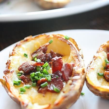 crispy baked potato skins