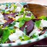 Roasted Beet Salad with Feta, Walnuts & Mint