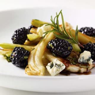Blackberry and Roasted Fennel Salad with Honey Balsamic Dressing