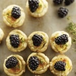 Mini Cheese Tarts with Blackberries