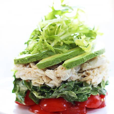 tarragon lemon salad with fresh crab and avocado