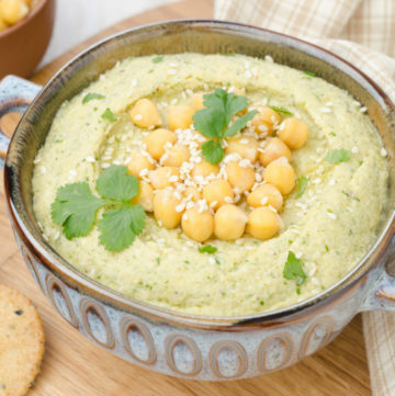 hummus…two flavors, one batch