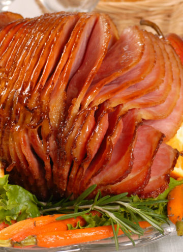 how to cook a spiral ham on a platter