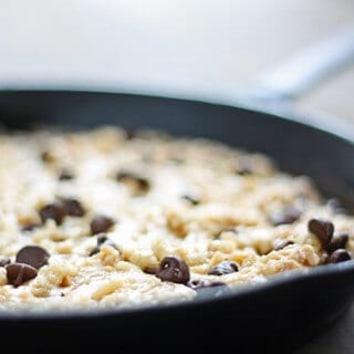 skillet cookie {with toffee & chocolate chips}