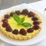 creamy custard & berry tarts