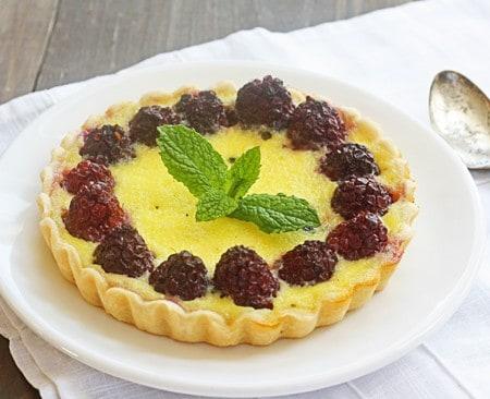 creamy custard & berry tarts