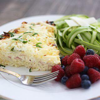 Easy Quiche Recipe | Hash Browns, Asparagus & Swiss