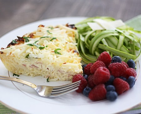 Easy Quiche Recipe | Hash Browns, Asparagus & Swiss