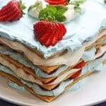 Strawberry Icebox Cake (with Graham Crackers)