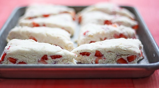 Strawberry Scone Recipe with Lemon Glaze | thewickednoodle.com