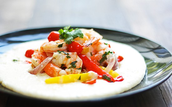 This fabulous Shrimp and Grits recipe will win you over even if you're not a grits lover! Try Chef Geoff's Shrimp & Very Gouda Grits.