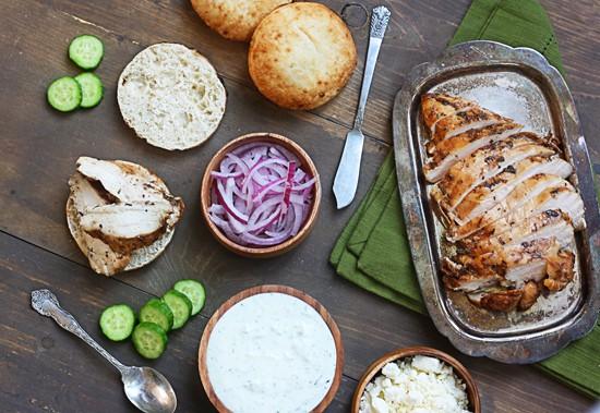 healthy chicken pitas