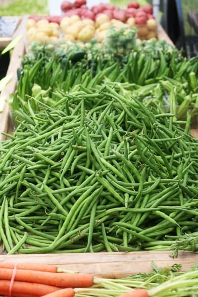 farmers market green beans