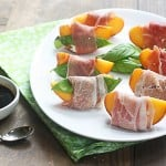 prosciutto, peaches & a balsamic glaze