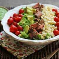 Steak Salad with Cilantro-Jalapeño Pesto