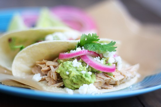 easy shredded pork tacos - so easy and good! | www.thewickednoodle.com