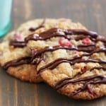 crazy good christmas cookies {fresh cranberry, chocolate & oatmeal}