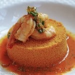 Roasted Shrimp with Carrot Couscous & Ginger-Lime Carrot Reduction