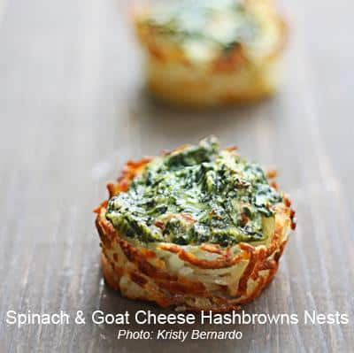 goat cheese nests
