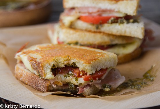 prosciutto grilled cheese