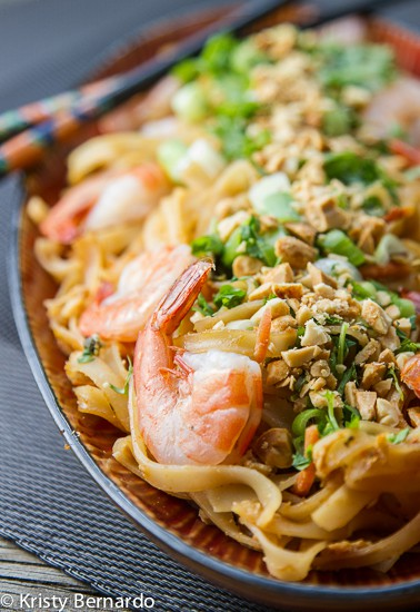 This easy weeknight Pad Thai recipe is one of our most popular recipes. Add shrimp or chicken for an easy, delicious meal whenever you get that craving!