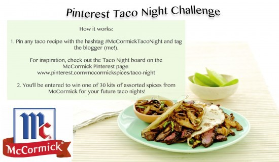 Pinterest Taco Night @thewickednoodle #McCormickTacoNight