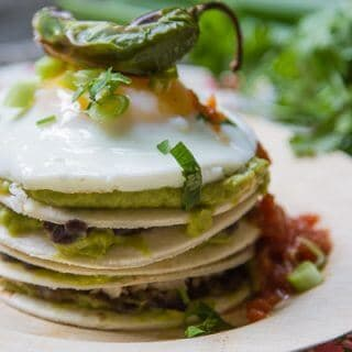 Wholly Guacamole Breakfast Stacks are a fun way to enjoy breakfast not to mention they taste amazing! They're perfect for a brunch or light lunch, too!