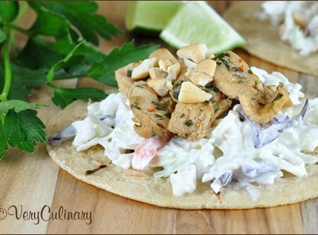 amy's asian chicken tacos