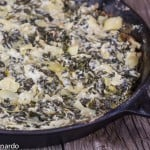 Hot, Creamy Spinach & Artichoke Dip {Low-fat & Low-Lactose}