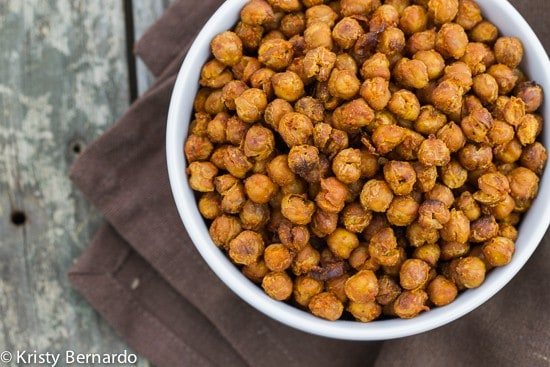 roasted buffalo chickpeas