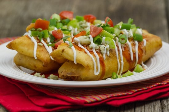 buffalo chicken mini-chimichangas