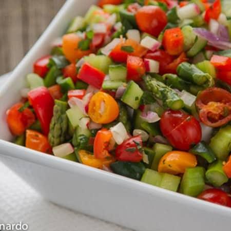 Skinny Chopped Veggie Salad