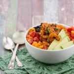 blackened shrimp bowls with salsa ranch quinoa
